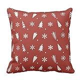 【TESCO】カスタムなヴィンテージのサンタのそりのクリスマスの枕 クッションカバー 45×45 綿製 おしゃれ 車用クッション ホーム インテリアー 雑貨