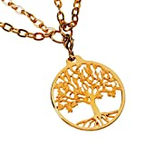 Tree of Life Gold-dipped Pendant Necklace on 18-36