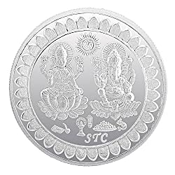 Be You 99.6% Pure Silver Lakshmi Ganesh 50 Gram Coin