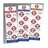 Picadilly Line Mini Marks 6 Magnetic Page Marks London Underground Bookmarks