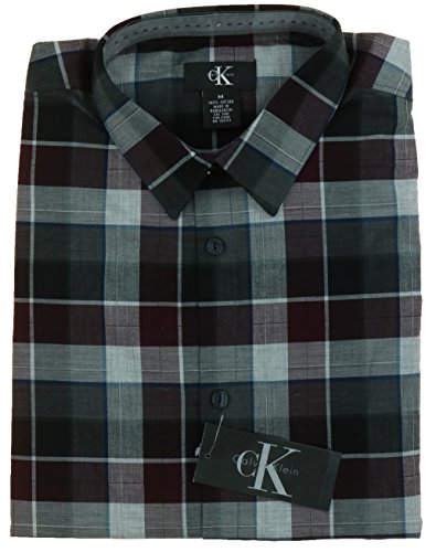 Calvin Klein Men's Long Sleeve Plaid Shirt (Many Size/ Color)