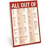 Knock Knock All Out Of Note Pad with Magnet (Red)