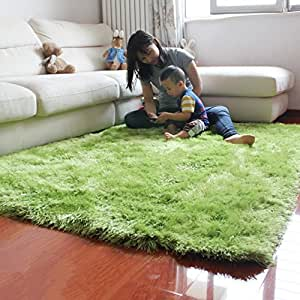 Ustide solid color area rugs super soft and for Rugs for boys bedrooms