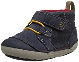 Stride Rite SM Leighton Boot (Infant/Toddler), Navy, 3 M US Infant