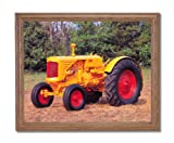 1938 Minneapolis Farm Tractor Home Decor Wall Picture Oak Framed Art Print