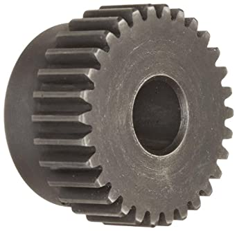 "Martin TS1230 Spur Gear, 20° Pressure Angle, High Carbon Steel, Inch, 12 Pitch, 3/4"" Bore, 2.667"" OD, 1.000"" Face Width, 30 Teeth"