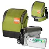 BDV0701 First2savvv high quality anti-shock green Nylon camcorder case bag for Canon LEGRIA HF R406