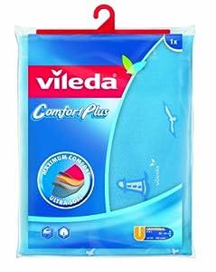 Vileda 1000920 Bügeltischbezug ComfortPlus Viva Express, Universale Paßform für Bügeloberflächen von 30-45cm Breite und 110-130cm Länge, farblich sortiert