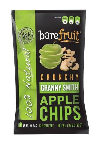 Bare Fruit Crunchy Apple Chips Granny Smith 1 69 Ounce Bags Pack of 10