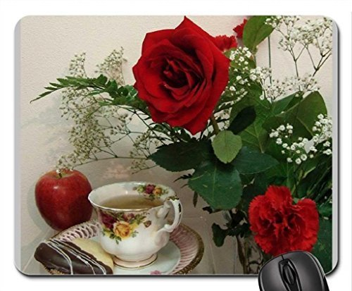 tea-time-with-red-rose-and-apple-mouse-pad-mousepad-flowers-mouse-pad