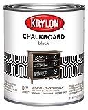 Krylon Chalkboard Paint Special Purpose Brush-On 29 oz. Quart Black