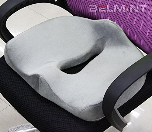 belmint orthopedic memory foam seat cushion for car office chair or recliner great for. Black Bedroom Furniture Sets. Home Design Ideas