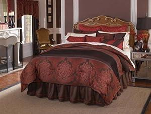 Veratex Bedding Collection Bourdon 4-Piece Comforter Set, Queen Size