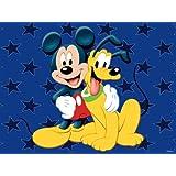 "Disney Mickey and Pluto Child Carpet & Rug 54x80"""