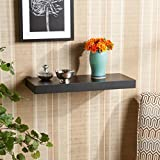 DecorNation Floating Wall Shelf 24 Inches (Black)