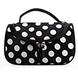 Dots Pattern Make Up Bag For Summer Vacation,travel And Lady Cosmetic Bag (Black+white)