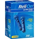 ReliOn 30G Ultra Thin Lancets 200-ct