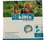 Kiltix Tick Collar for Dogs 5 Month Long life Flea&Tick control Size M 3 pack