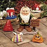 Gnome Greeter Garden Statue W/ Hat Assortment Sculpture