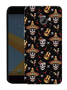 "Humor Gang Mexican Guitar Printed Designer Mobile Back Cover For ""HTC 10"" (3D, Matte, Premium Quality Snap On Case)"