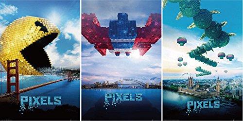 UK版ポスター ピクセル / PIXELS 3枚組セット [並行輸入品]
