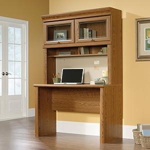 "48"" Computer Desk with Glass Door Hutch by Sauder"
