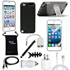 DigitalsOnDemand ® 12-Item Accessory Bundle for Apple iPod Touch 5th Gen 5G 32GB 64GB - Slim Case Cover, Case with Stand, USB Cables + Chargers, Screen Protector
