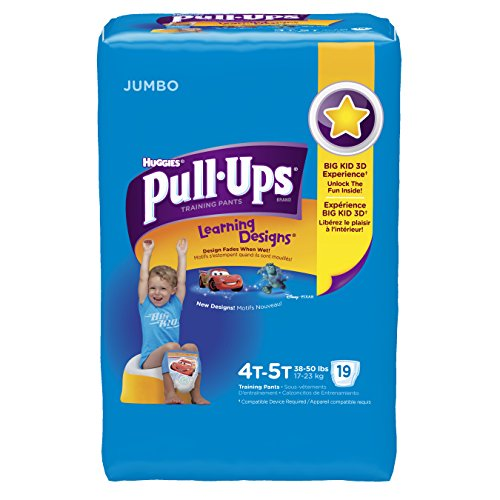 Huggies Pull-Ups Training Pants for Boys with Learning Designs, Jumbo Pack, Size 4T-5T, 19 Count - 1