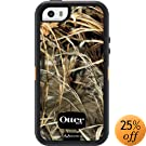 iPhone 5S Case- OtterBox Defender Case for iPhone 5/5S- Realtree Camo/Max4 Orange (Retail Packaging)(Works with TouchID)