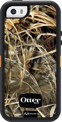 Special Sale OtterBox Defender Series Case for iPhone 5S - Retail Packaging - Realtree Camo - MAX 4HD Orange