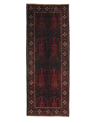 Darya Rugs Persian One-of-a-Kind Rug, Red, 3' 10 x 9' 9 Runner