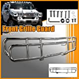 51aXXJrt6ZL. SL160  Hummer H2 Grille Guard/Brush Guard   Polished Stainless Steel   Fits the 2003, 2004, 2005, 2006, 2007, 2008, 2009, and 2010 Hummer H2