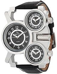 Oura V6 Stylist Triple Time Black Dial Sport Wear Watch For Men