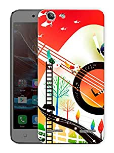 "Abstract Art Printed Designer Mobile Back Cover For ""Lenovo Vibe K5 - K5 Plus"" By Humor Gang (3D, Matte Finish, Premium Quality, Protective Snap On Slim Hard Phone Case, Multi Color)"