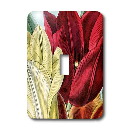 PS Vintage - Vintage Tulip Flowers - Light Switch Covers - single toggle switch (lsp_203816_1)