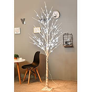[UPDATED VERSION]Bolylight LED Birch Tree 6ft 