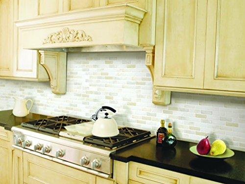 ブリックタイルシール キッチン 洗面所 トイレの模様替えに最適のDIY 壁紙デコレーション BST-12 ホワイト White Brick 【 自作アートインテリア / ウォールステッカー 】