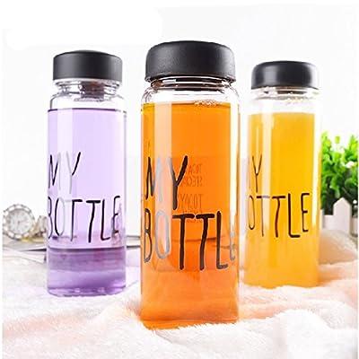 Elegiant Trinkflasche, Sportflasche mit Mode Wörtern My Bottle, BPA-frei tragbaren Klare Transparenz 500ml