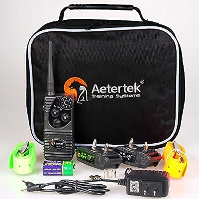 Aetertek AT-216S Submersible 550m Remote Range Pet Dog Electric Shock Trainer Control 2 Dog Training Anti Bark Shock Collar