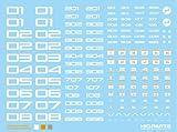 HIQ PARTS TRデカール ナンバー/ホワイト(1枚入り)