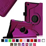Fintie Rotating Case with 360 Degree Rotation Support, Vertical and Horizontal Multi Angle Stand, Auto Wake/Sleep for 2nd Generation Google Nexus 7 FHD, Android Tablet - Purple