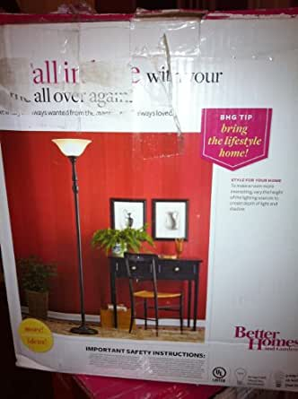 Better Homes and Gardens Floor Lamp- Bronze Finish