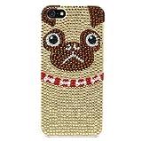 SKINNYDIP ( スキニーディップ )  【 iPhone 5 5S Red Bling Pug Case     ロンドン の かわいいパグ iphoneケース  】 ラインストーン パグ レッド ケース  :  保護シート フィルム セット ( iphone5s  iphone5 対応 ) ( セレクトショップ l\'etoile beaute  )