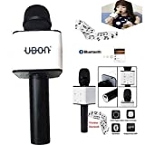 #8: MM Multi Magic Bluetooth Mic / Mike, Portable Handheld Mic / Mike with Speaker (Bluetooth Speaker) for Karoke Singing, Mic / Mike with Audio Recording Facility basically a Wireless Mic / Mike Useful for Parties, Family Functions, Meetings and Karoke Nightouts compatible with Smartphones, Tablets, Laptops, LCD, Television and Other Bluetooth enabled device - UBON-MIC-087-BLACK