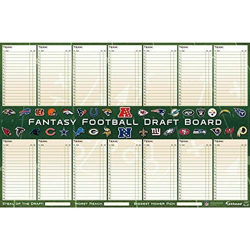 Fathead Nfl Fantasy Draft Dry-Erase Board