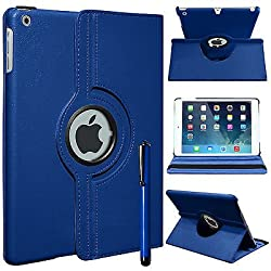 Gioiabazar 360 Rotating PU Leather Stand Case Cover For Apple ipad Air 5th Gen New Navy Blue