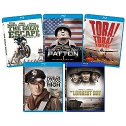 The Ultimate War Blu-ray Bundle (The Great Escape, Patton, Tora Tora Tora, Twelve O'Clock High, The Longest Day)