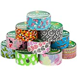 """10 Rolls Duck Duct Tape Colored Patterns Designs 1.88"""" x 30' Heart Dog Sheep Pig"""