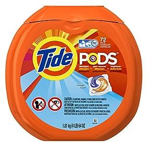 Tide PODS Ocean Mist HE Laundry Detergent Pacs, 72 Count