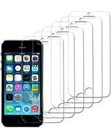 Protection écran iPhone 5/5S/5C, IDACA 6 pièces Film Protection LCD Clear pour Apple iPhone 5/5S/5C